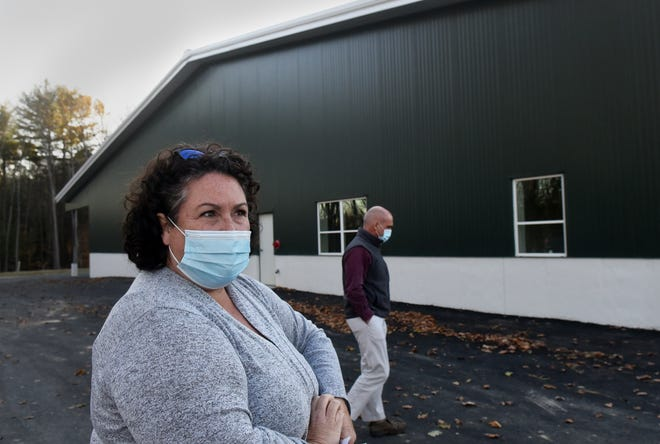 Project Manager Stephanie Cartabona gives a tour of the new Fields, Grounds and Cemeteries Building on Court Street.