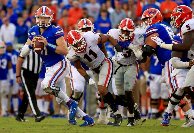 Florida quarterback Kyle Trask (11) has another opportunity to help the Gators knock off Georgia in Jacksonville.
