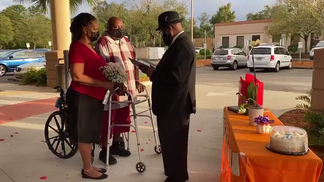 Couple weds at Orange Park hospital where groom recovers from COVID-19