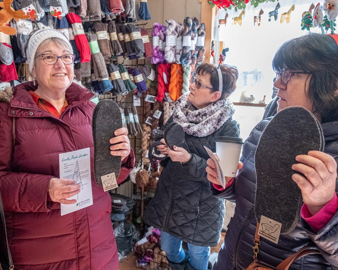 Customers at Plain View Farm in Hubbardston are shown during last year's Country Roads Christmas.