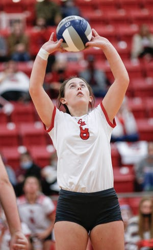 Glen Rose senior setter Emma Lozier led the Lady Tigers will 19 assists in her final match as a Lady Tiger.