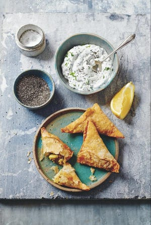 """These zucchini, asparagus and cauliflower triangles are from """"The Pastry School"""" by Julie Jones."""