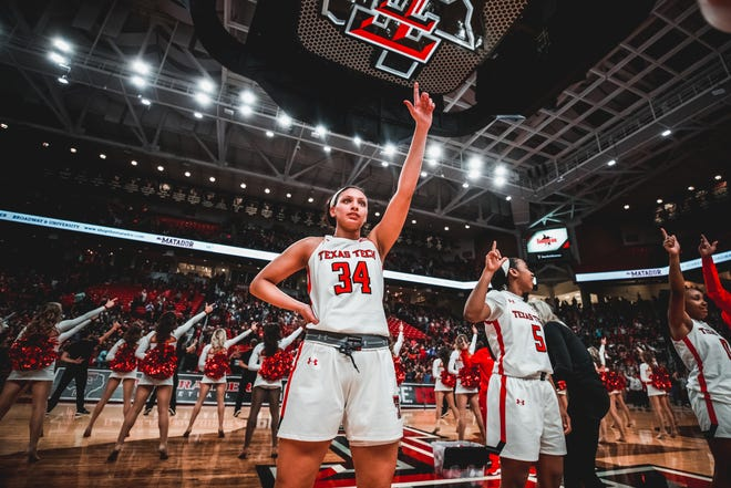 After Texas Tech senior guard Lexi Gordon lost her aunt, Lindsay Altman, to suicide when Gordon was 13, she's become more aware of the importance of mental health and has various practices she participates in to stay in a good headspace. [Courtesy of Texas Tech Athletics]