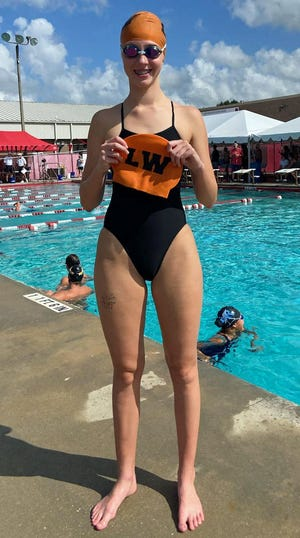 Lake Wales freshman Mary Leigh Hardman won two events at the Class 2A, Region 3 swim meet.