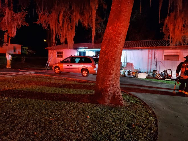 This was the scene at a Wednesday night house fire in northeast Ocala.