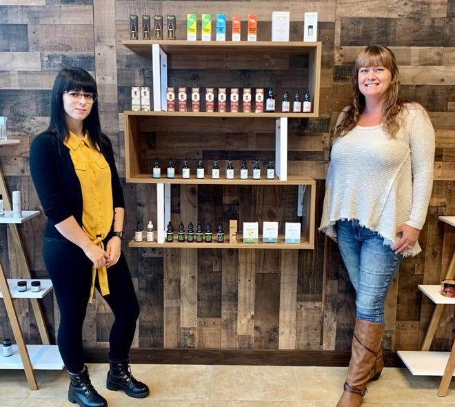 Taryn Eaton, left, recently opened Eaton CBD Apothecary on Route 1 in Seabrook.