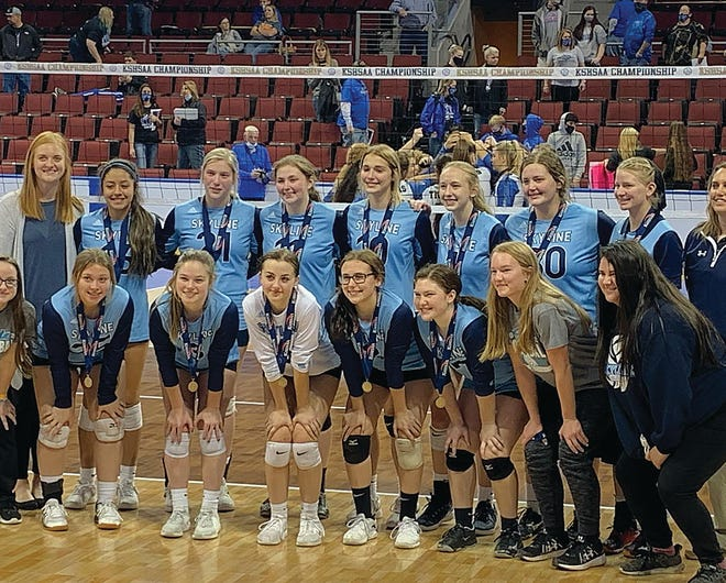 Members of the 2020 Skyline High School volleyball team surmounted incredible odds in a season full of COVID-19 worry to take fourth place at the state high school volleyball tournament on October 31 in Dodge City at the United Wireless Arena.