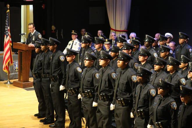 Providence Police Academy graduation in 2019. The Providence Journal/Sandor Bodo