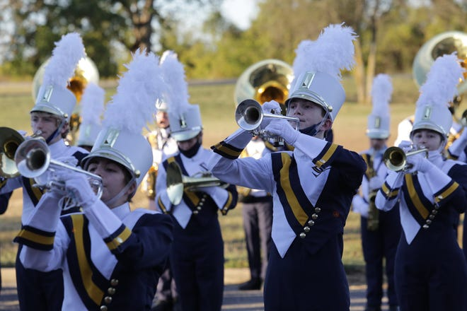 The Stephenville High School Yellow Jacket Band earned top ratings at Saturday's Rattler Invitational Marching Festival 2020.