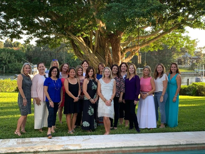 The Impact100 SRQ board of directors (front row, from left): Dianna Manoogian, Julie Brum, Amy Tupper, Jane Watt, Sannie Brander, Cheryl Gannon, Birgit Sroka, Joanna Benante and Tilly McFadden; and (back row) Beth Walling, Joanne Fabec, Toni Schemmel, Patty Meringer, Kristin Holm, Betsy Friedman, Andrea McHenry and Michelle Fisher.
