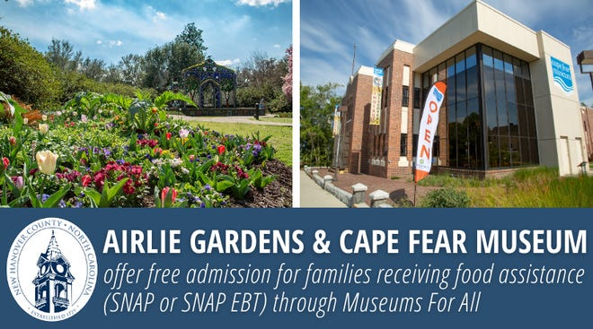 Airlie Gardens and Cape Fear Museum participating in Museums For All.