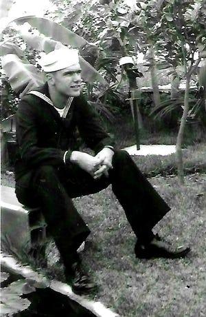 William D. Halyburton in Navy uniform in 1944.