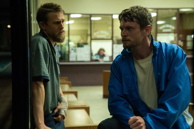 "Charlie Hunnam, left, and Jack O'Connell star in ""Jungleland."" (Dana Starbard/Vertical Entertainment)"
