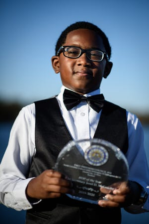 Jerel McGeachy, who is 9 years old, made a name for himself by reciting a speech by Martin Luther King Jr.