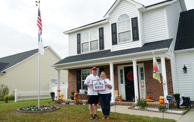 Army veteran George Stultz and his wife, Barbara, were recently given this mortgage-free home in Fayetteville.