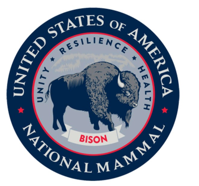 The U.S. Congress passed the 2016 National Bison Legacy Act, thereby designating the American bison as the National Mammal.