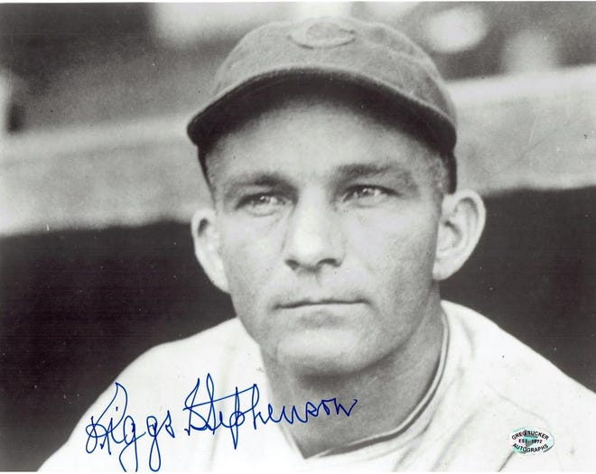 "Jackson Riggs ""Warhorse"" Stephenson (January 5, 1898 – November 15, 1985) was an American left fielder in Major League Baseball. Nicknamed ""Old Hoss,"" Stephenson played for the Cleveland Indians from 1921 to 1925 and the rest of his career from 1926 to 1934 with the Chicago Cubs.He was born in Akron, AL, and originally played baseball and football at the University of Alabama before he started his professional baseball career. (Photo was donated to Tuscaloosa Area Virtual Museum by Leo Wagner. See more information at www.tavm.omeka.net.) Comments? Reach bettyslowe6@gmail.com."