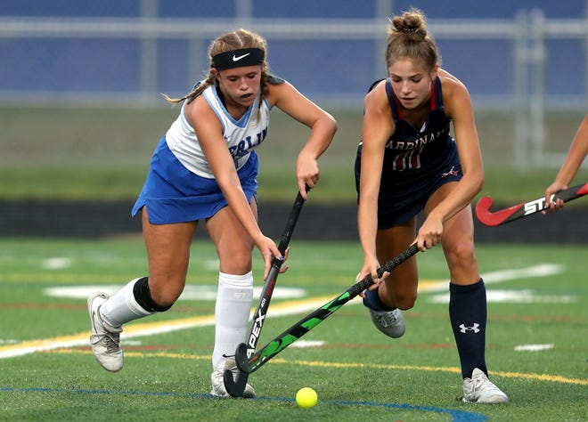 Sophomore attacker Cate Isaacson, right, is expected to be among the top returnees for the Thomas field hockey team. She had 12 goals andthree assists this season as the Cardinals reached a district final.