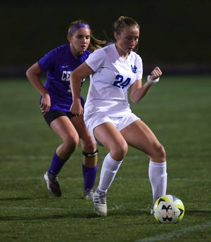 "Junior midfielder Emory Trout helped the Davidson girls soccer team go 6-7-4 and reach a Division I district semifinal. Coach Heather Usner said she liked how the Wildcats ""responded to adversity."""