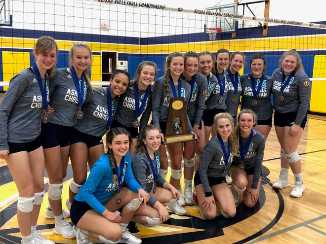 Asheville Christian Academy volleyball won its 11th state championship on Oct. 31, 2020.
