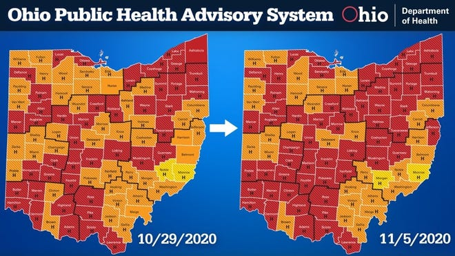 56 Ohio Counties Coded Red On State S Covid 19 Heat Map