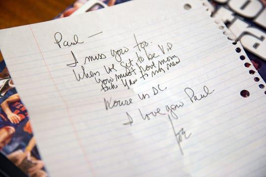 A letter Joe Biden wrote back to supporter Paul Heddens.