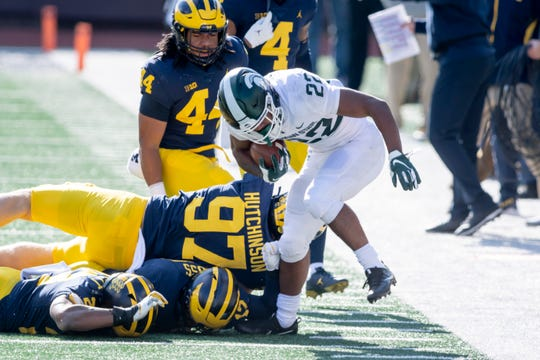 Michigan State and Michigan each hit the road this week for Big Ten games.