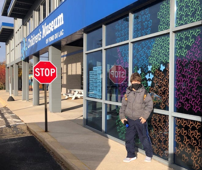 The Children's Museum of Fond du Lac decorated its windows with 313 butterflies, symbolizing hope during Children's Grief Awareness Month.