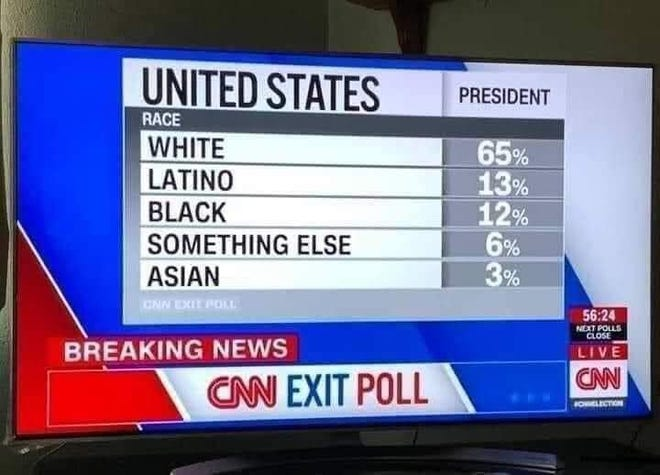 """During the network's live election coverage, CNN labeled Native American voters as """"something else."""""""