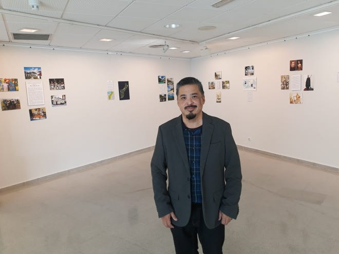 Clark Limtiaco launches art exhibit in Spain analyzing Spanish influences on Guam history.