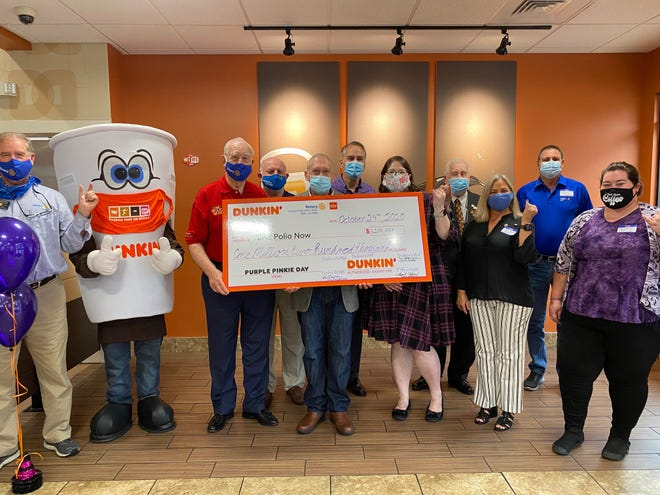 Dunkin's Purple Pinkie Day fundraiser where Dunkin' locations in Tennessee helped to raise $1.2 Million to further efforts around eradicating polio globally.