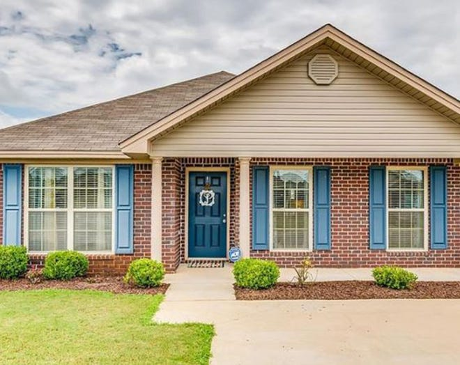 One home on Cotton Blossom Way in The Oaks at Buena Vista is for sale for $162,900 and provides three bedrooms and two bathrooms within 1,405 square feet of living space.