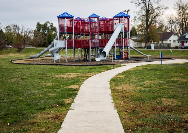 A playground at Tuhey Park in Muncie Thursday, Nov. 5, 2020. The YMCA has proposed building a new facility at Tuhey Park and subsequently closing its Northwest and Downtown locations.