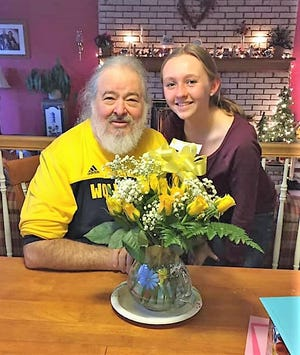 Ted Fournier is pictured with his granddaughter Katie.