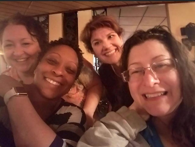 From left to right: Lisa Horn, Tracey Richburg, Kelly Ort and Christine Moul.