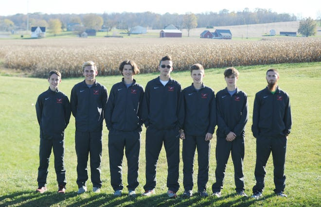 The Sheridan boys cross country team is making its eighth straight appearance in the Division II state meet. Representing the Generals will be, from left, Simon Conrad, Evan Powell, John Skinner, William Wilke, Elijah Devoll, Vann Emmert and Luke Foster.