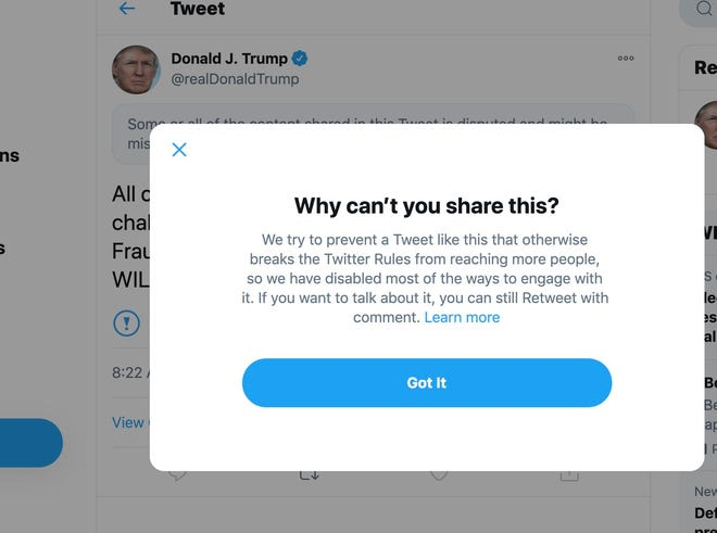 Twitter Won T Give Trump Special Treatment Post Presidency