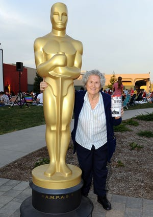 "Character actress Elsa Raven, best known for her role in ""Back To The Future,"" has died at age 91 in Los Angeles, California. In this 2012 file photo, she attended an Oscars screening of ""Back To The Future"" in Hollywood."