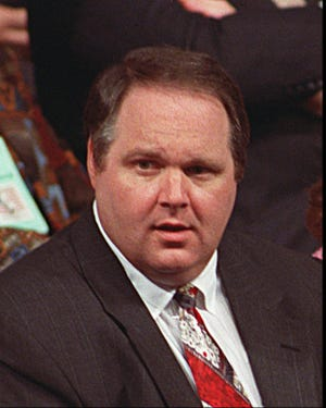 Rush Limbaugh at the Republican National Convention in August 1992.