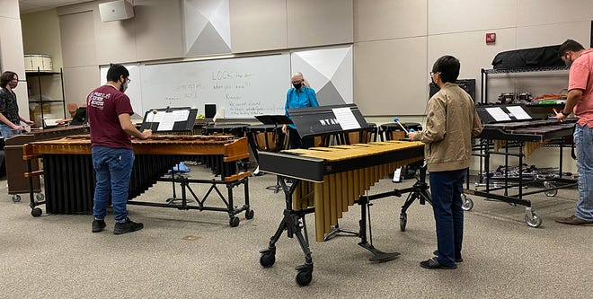 Students at West Texas A&M University's School of Music are still finding ways to make music and share it with the community. The percussion ensemble recently was featured in a live-streamed concert.