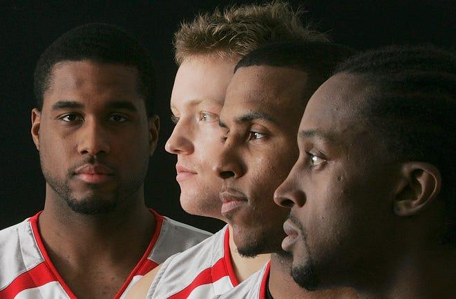 Ohio State Basketball seniors Terence Dials, Matt Sylvester, J.J. Sullinger and Je'Kel Foster.