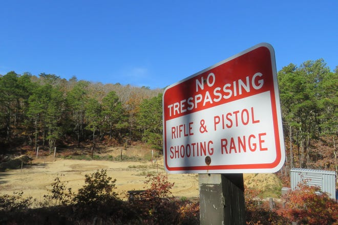 The Cape Cod National Seashore's shooting range in the woods off Collins Road in Truro.