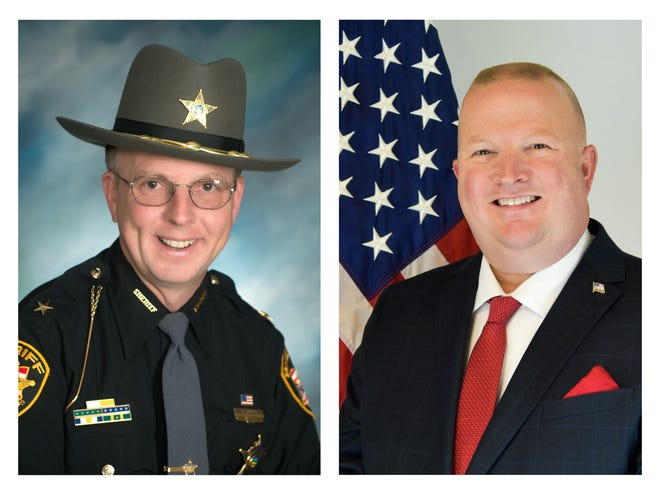 Pickaway County Sheriff Robert Radcliff, left, is trailing his challenger in last week's election, retired Circleville police Sgt. Matthew Hafey, right, by 262 votes headed into a final count and election certification on Nov. 18. With the exception of four years (1960 to 1964) a Radcliff has been sheriff of Pickaway County since 1930.
