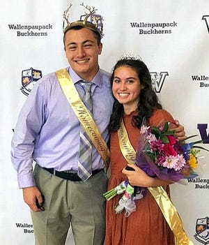 Liam Smith and Aliah Balch were crowned Homecoming King and Queen for Wallenpaupack Area prior to the Oct 30 football game against Scranton that resulted in a 42-0 win for the Buckhorns.