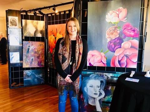 Graphic Designer by day, painter and potter by weekend, Whitney Morman is one of 25 featured artists in this year's virtual studio tour.