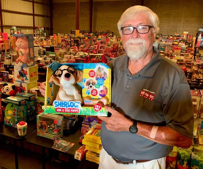 David Waller has run the Polk County Toys for Tots effort since 2017.