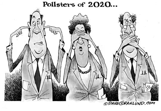 A cartoon by Dave Granlund about the inadequacy of polling