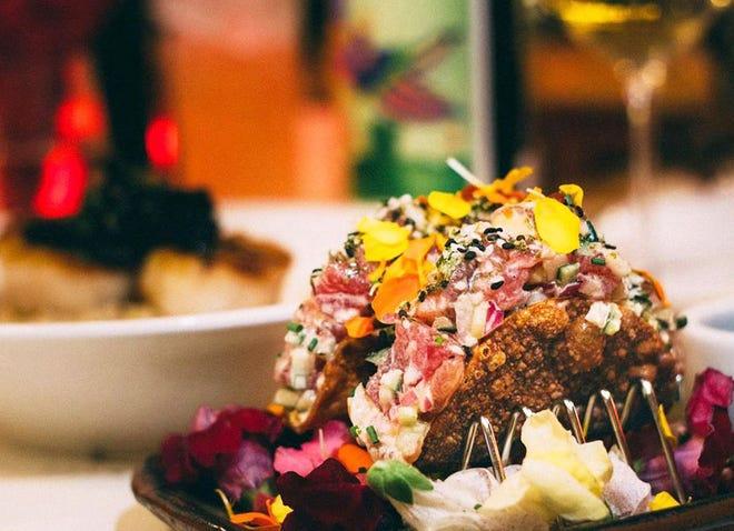Cucina's Sunday brunch items include ahi tuna tacos. Photo courtesy Cucina.