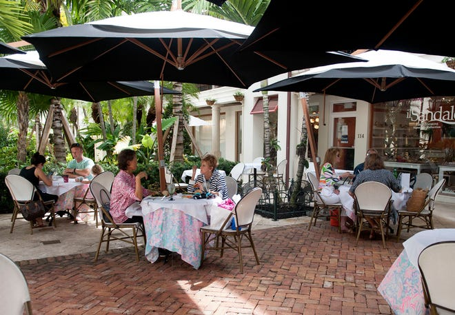 Cafe Via Flora, off Worth Avenue, is one of the many island restaurants to offer outdoor seating.