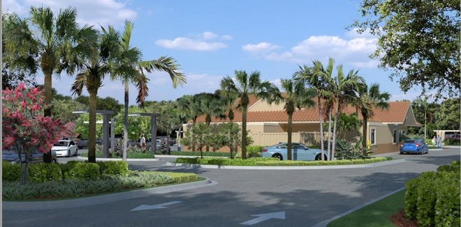 The Palm Beach Gardens City Council unanimously approved plans to add a second drive-thru lane at a McDonald's restaurant on Alternate A1A and modify the landscaping and parking lot, as shown in this rendering.